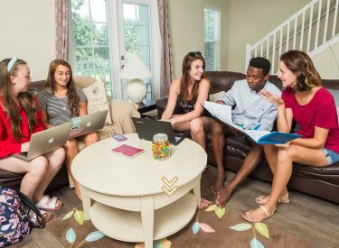 A smaller student housing community provides the best way to meet new people!